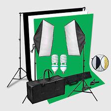 CLKIT2 Studio de Photo continu d'éclairage 2 x 3 Mete de 2x150w Softbox