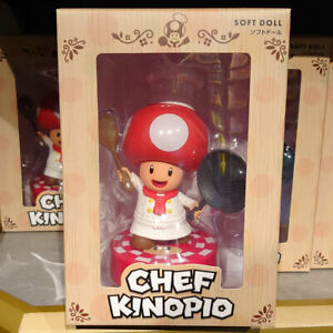 SUPER NINTENDO WORLD MARIO Chef Kinopio Toad Soft Doll Figure USJ Limited L/E JP