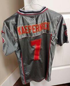 NFL NIKE Kaepernick Embroidered San Francisco 49ers Jersey Youth Large 12-14 HTF