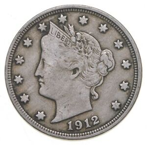 1912 Liberty V Nickel - Walker Coin Collection *857