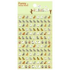 CUTE TINY BIRD STICKERS Sheet Animal Owl Parrot Vinyl Craft Scrapbook Sticker