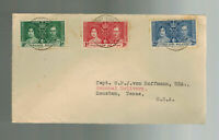 1937 Falkland Islands first day cover to USA KGVI Coronation FDC