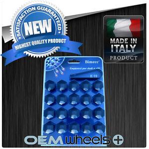 20X - 19MM HEX BLACK CAP COVERS LUG BOLTS NUT CAYENNE AUDI Q7 VW TOUAREG ITALY