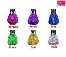 12pairs Cheerleading Pom Pom 30cm Length Assorted Colours Bulk Value Buy JD18200