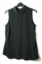 BLACK LADIES CASUAL TOP BLOUSE SIZE 10 PAPAYA WEEKEND