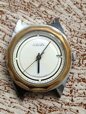 Rare Vintage Soviet Raketa Two Tone White Dial Cccp Date Superbe Condition