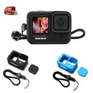 Silicone Camera Protective Frame Case Lens Cap Set for GoPro Hero 9 Accessories
