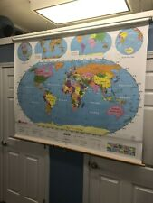 Nystrom World Pulldown Classroom Map 1NS99
