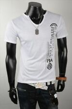 Men's CINC Jeans rivaloi T-Shirt-Bianco-MEDIUM - Box6353 H