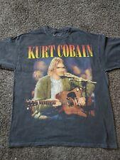 Kurt Cobain nirvana unplugged t shirt mens Rock O/S One Size black vintage