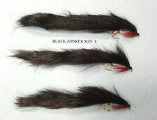 3 NEW HOT HEAD Small Water Zonker LURES Trout Flies by Iain Barr Fly Fishing