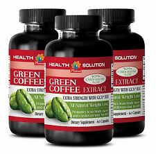 3 Bottles PURE WEIGHT LOSS DETOX FAT BURNER GREEN COFFEE EXTRACT GCA® 800