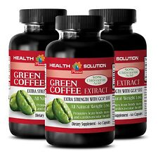 3 Bottles Appetite Suppressant Pure GREEN COFFEE BEENS EXTRACT GCA® 800