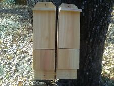 2 Single Chamber Handcrafted Cedar Bat House Box Pest and Mosquito Control