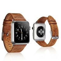For iWatch Apple Watch Series 3 2 1 42mm Genuine Leather Band Strap Bracelet