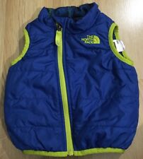 The North Face Vest Baby Toddler Size 6-12 Months Blue And Yellow