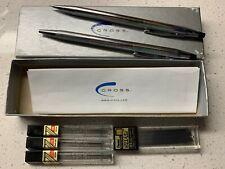 Cross Chrome Century Mechanical Pencil And Pen Set & 4 Pentel lead refill tubes