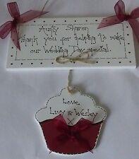 shabby chic auntie wedding thank you plaque sign birthday keepsake gift