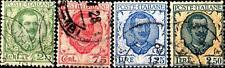 ITALIA - Regno - 1926 - Tipo floreale modificato - 25 - 75 - 1,25 e 2,50 lire