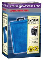 Marineland Emperor Cartridge Rite-Size E 4 Pack