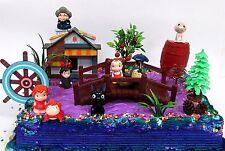 Studio Ghibli Themed Birthday Cake Topper w Ponyo, Yubaba, Jiji, Kodoma and More