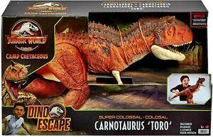 Jurassic World Camp Cretaceous Super Colossal Carnotaurus Toro DINO Escape new