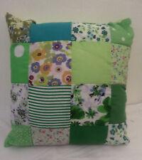 Cotton Blend Patchwork Square Decorative Cushions
