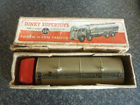 DINKY SUPERTOYS No.504 FODEN 14-TON TANKER 1ST TYPE CAB 1948-52 IN ORIGINAL BOX