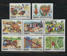 Year of Food Production Agriculture mnh set of 8 stamps 1985 Rwanda #1213-20