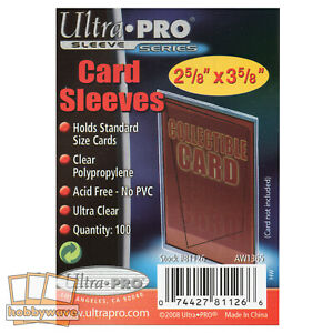 Ultra Pro Soft Sleeves/Penny Sleeves, Trading Card Protectors - 100 Sleeves