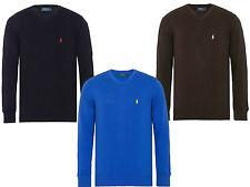 Maglione uomo Polo Ralph Lauren CUSTOM FIT collo V cottone 100% herren pullover