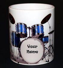 Personalised Drum Kit Gift Mug