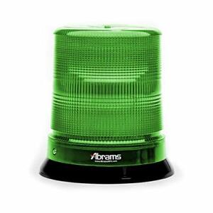 "7"" StarEye LED Beacon 12 LED Permanent Mount Security Vehicle Green Strobe Light"
