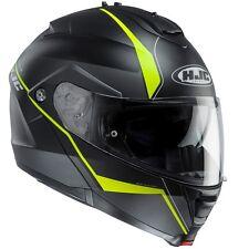 NEU HJC Helm IS-MAX II 2 Mine schwarz gelb  XXL = 63/64 Klapphelm Sonnenblende