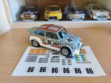 KIT ADESIVI - NO DECALS - FIAT ABARTH 1000 tc AUTOART 1/18 - 24h Spa 1970