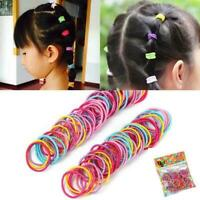 100Pcs Kids Girl Elastic Rope Hair Ties Ponytail Holder Head Band Hairbands F5Q8