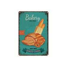 Metal Tin Sign baked goods bakery Decor Bar Pub Home Vintage Retro Poster