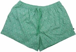 Lauren James Ladies Nylon Printed Shorts w/Pockets in Mint - Choose Size - NWT
