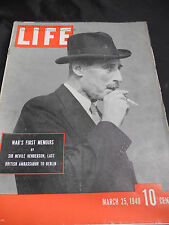 WWII Life Magazine March 1940 Wars First Memoirs