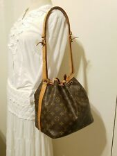AUTHENTIC LOUIS VUITTON PETIT NOE MONOGRAM LEATHER SHOULDER BAG