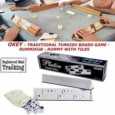 OKEY TRADITIONAL TURKISH BOARD GAME, RUMMIKUB, RUMMY WITH TILES, NEW IN THE BOX