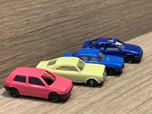 N Scale Wiking Cars: VW Golf, Opel Rekord, Audi 100, Merkur XR4Ti