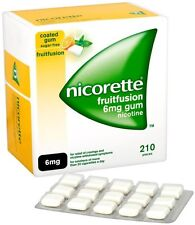 Nicorette 6mg Gum Nicotine 210 Pieces - Fruit Fusion Flavour (03/2018)