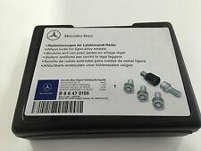 MERCEDES-BENZ absperrbare BULLONI RUOTA radsicherungen m14 x 1,5 x 27mm in argento