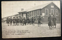 1918 Louisville KY Taylor Branch Camp USA Picture postcard Cover YMCA Buildings