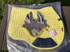 Citron NEW S/M Discontinued Le Mieux Saddle Cloth / Numnah Pad and M EARS PONY