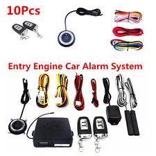10Pcs Car SUV Alarm System Keyless Entry Engine Start Push Button Remote Starter