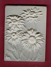 Flower tile #5: Daisy plaster of paris painting project. Single tile.