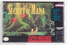 Secret of Mana FRIDGE MAGNET (2 x 3 inches) video game box snes