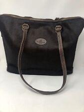 TANGAROA Terrida Leather Pony Hair Purse Macbook Laptop Briefcase Executive XL